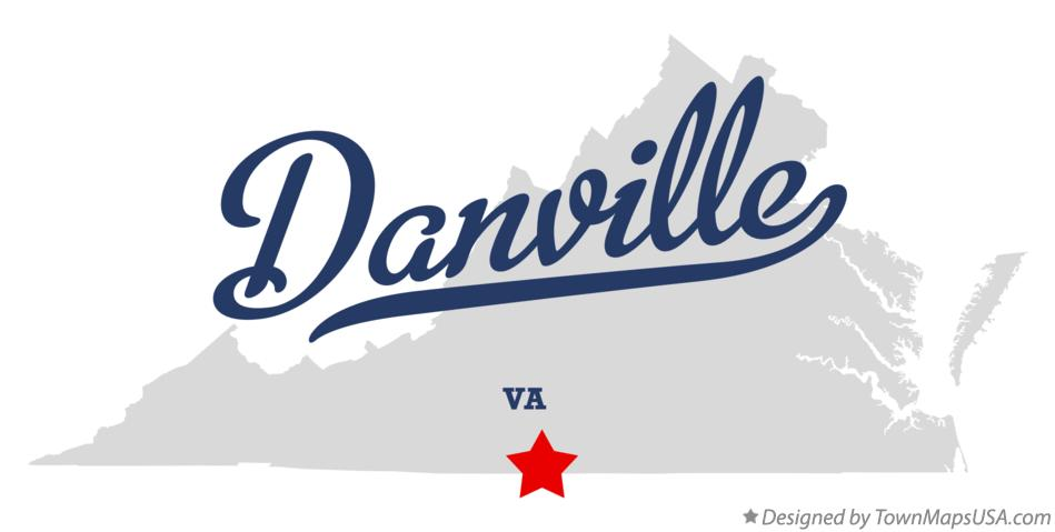 Map of Danville Virginia VA