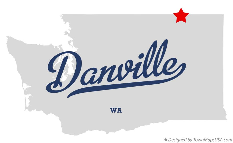 Map of Danville Washington WA