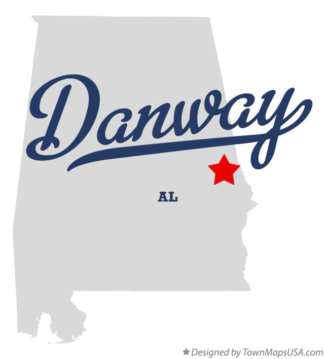 Map of Danway Alabama AL