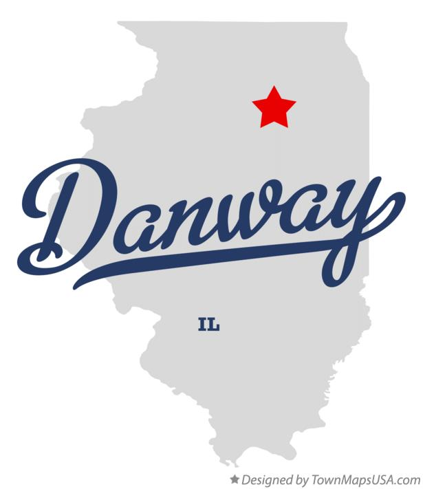 Map of Danway Illinois IL