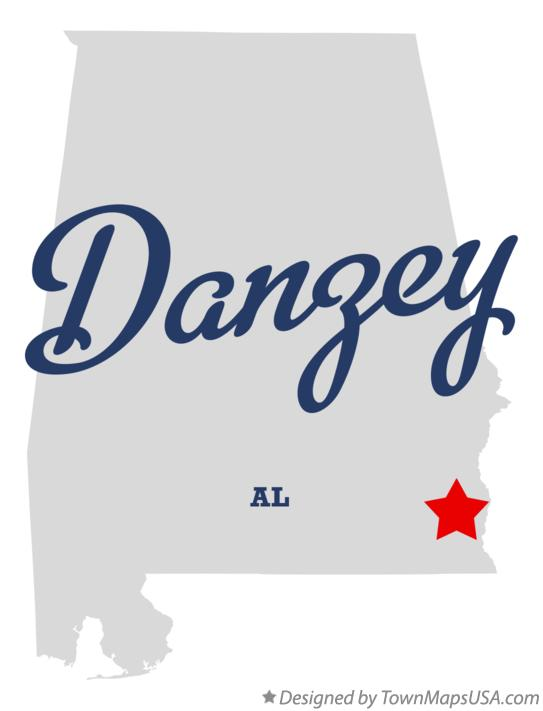 Map of Danzey Alabama AL