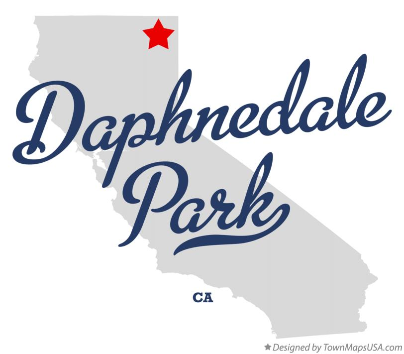 Map of Daphnedale Park California CA