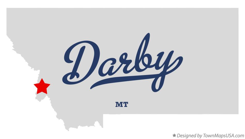 Map of Darby Montana MT