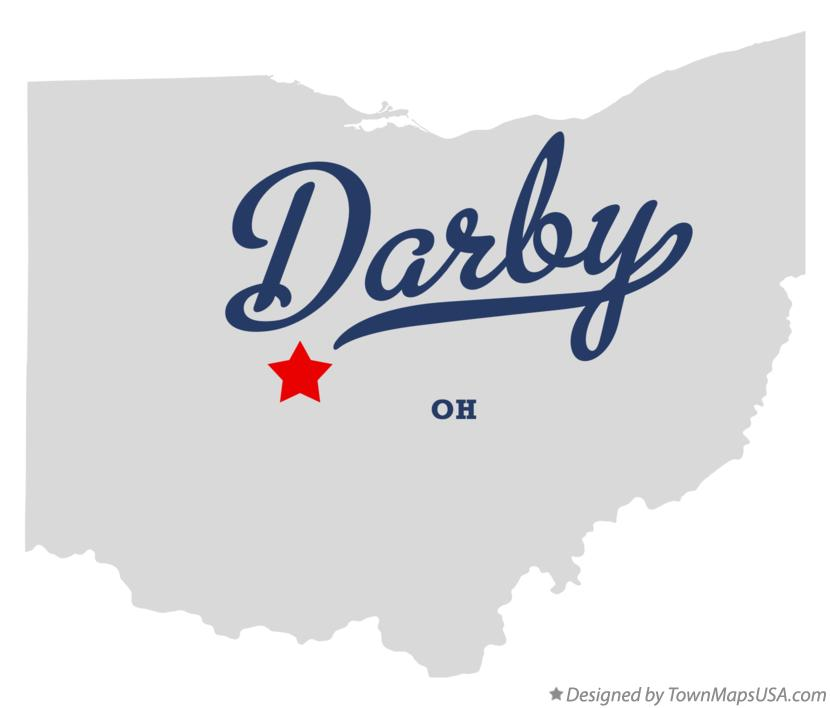 Map of Darby Ohio OH