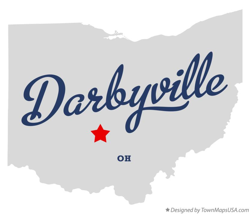 Map of Darbyville Ohio OH