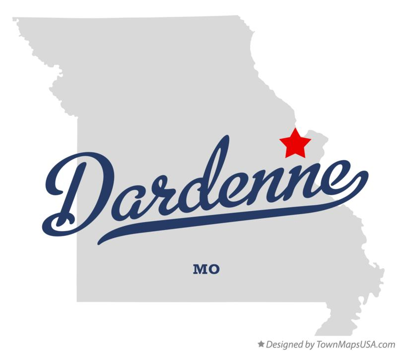 Map of Dardenne Missouri MO