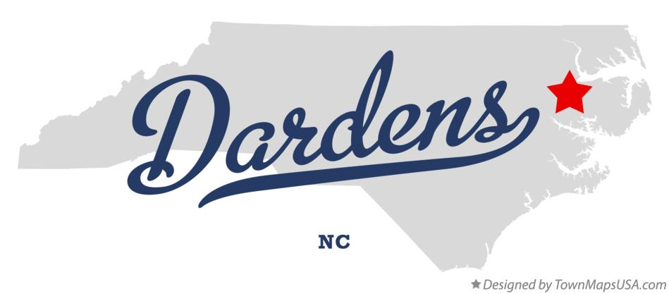 Map of Dardens North Carolina NC