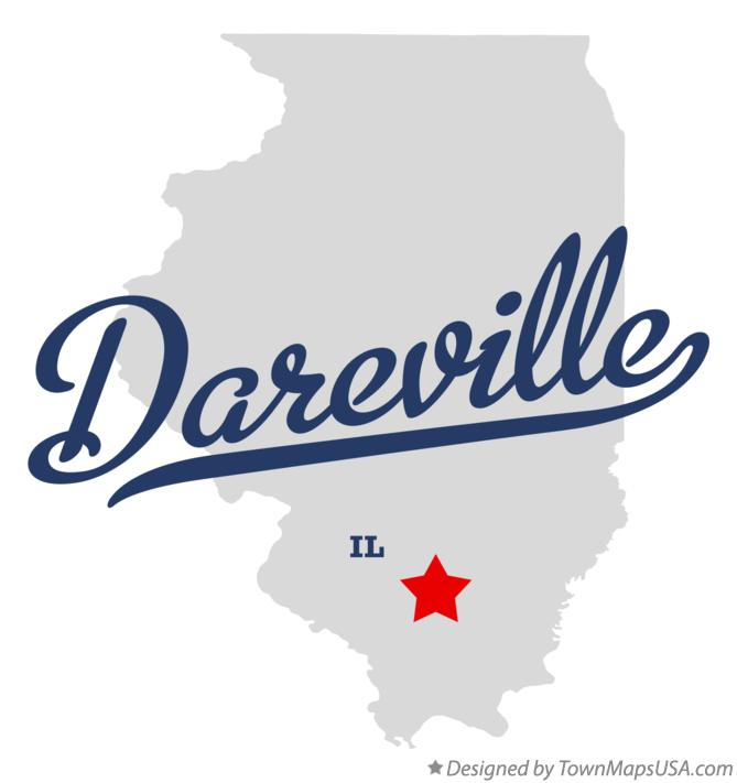 Map of Dareville Illinois IL
