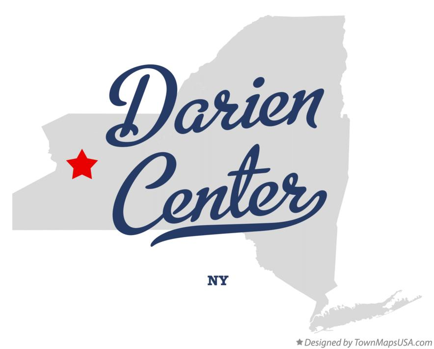 Map of Darien Center New York NY