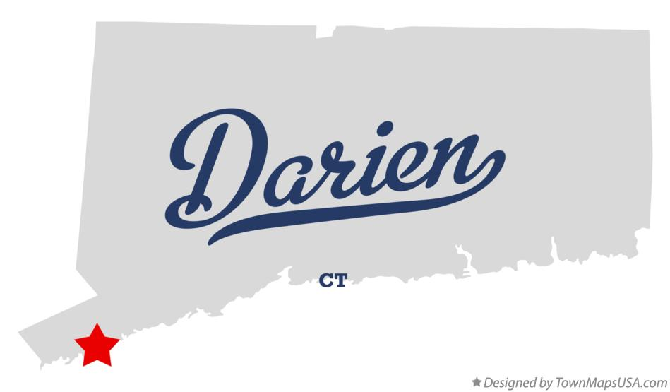 Map of Darien Connecticut CT
