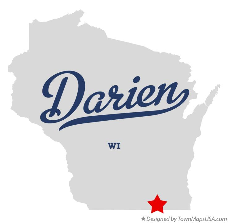 Map of Darien Wisconsin WI