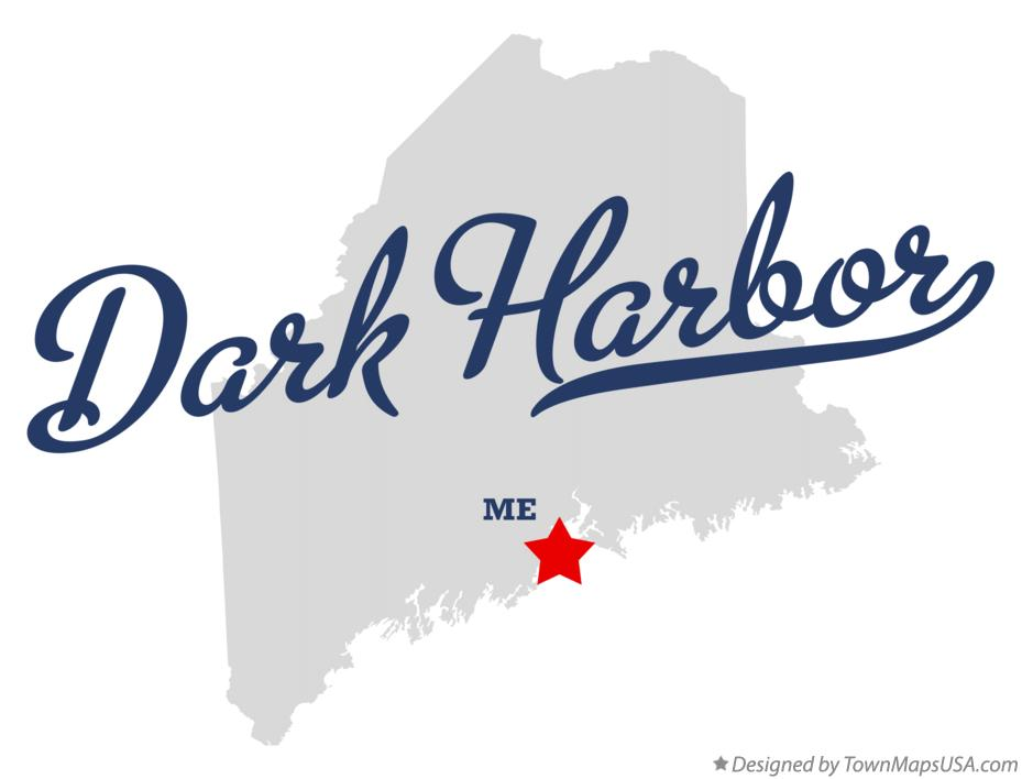 Map of Dark Harbor Maine ME