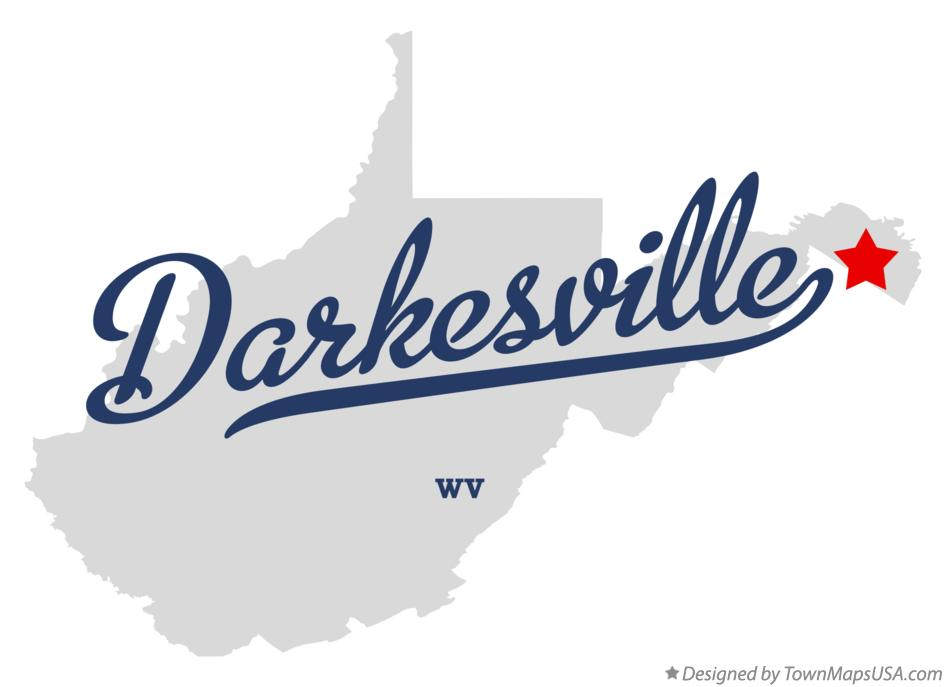Map of Darkesville West Virginia WV