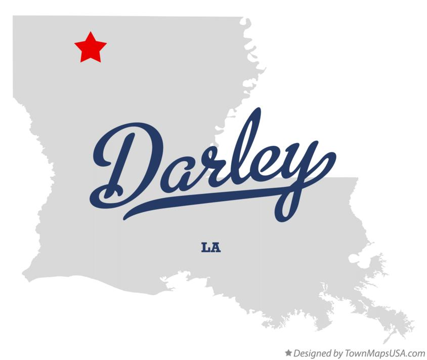 Map of Darley Louisiana LA