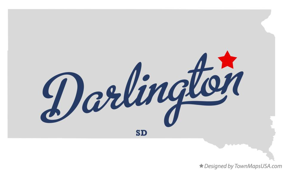 Map of Darlington South Dakota SD