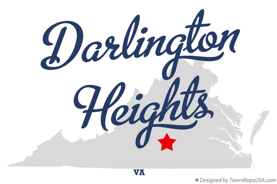 Map of Darlington Heights Virginia VA
