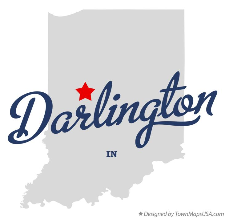 Map of Darlington Indiana IN