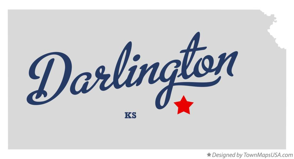 Map of Darlington Kansas KS
