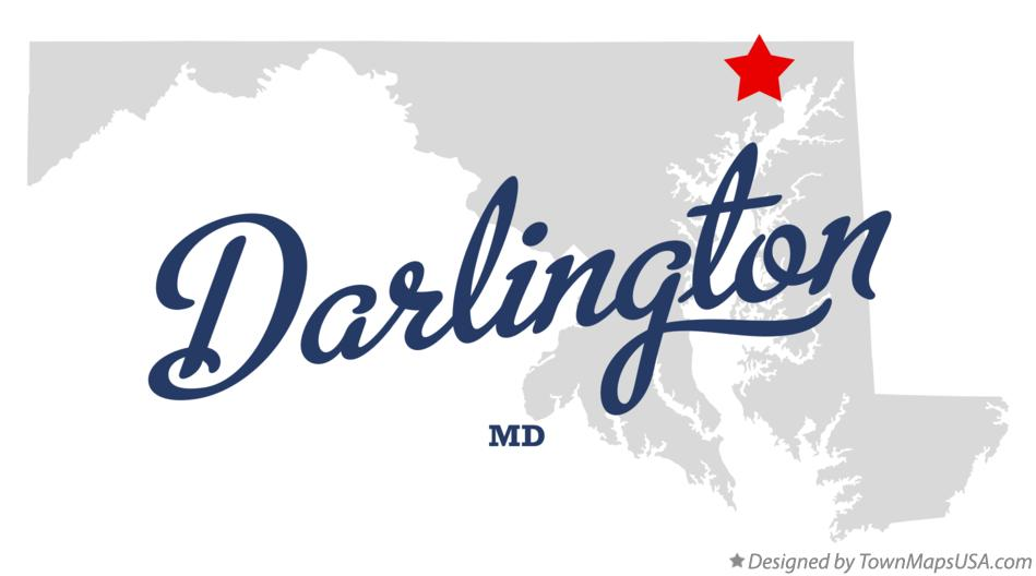 Map of Darlington Maryland MD