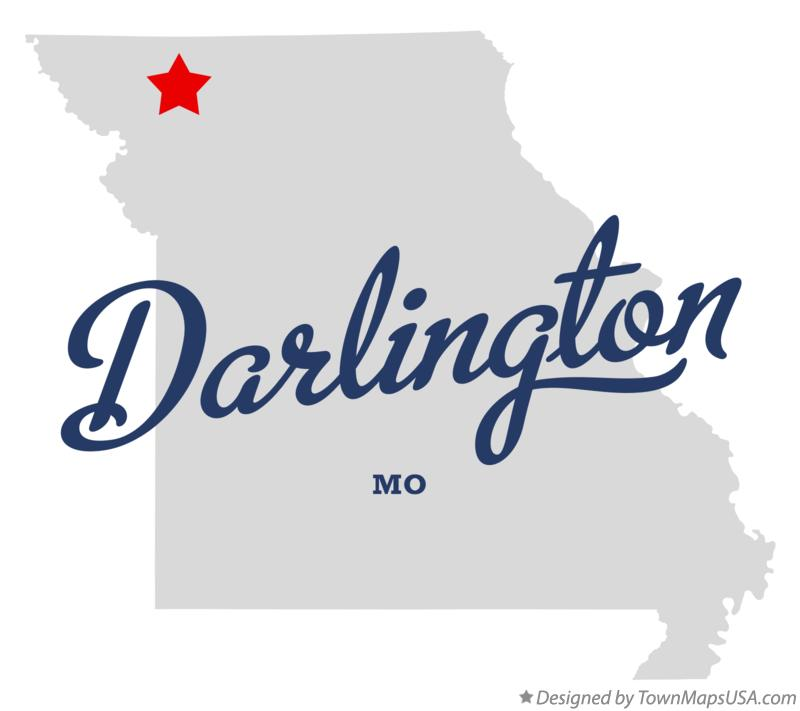 Map of Darlington Missouri MO