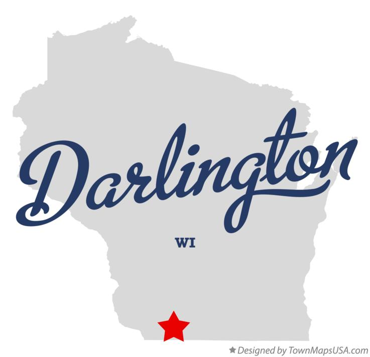 Map of Darlington Wisconsin WI
