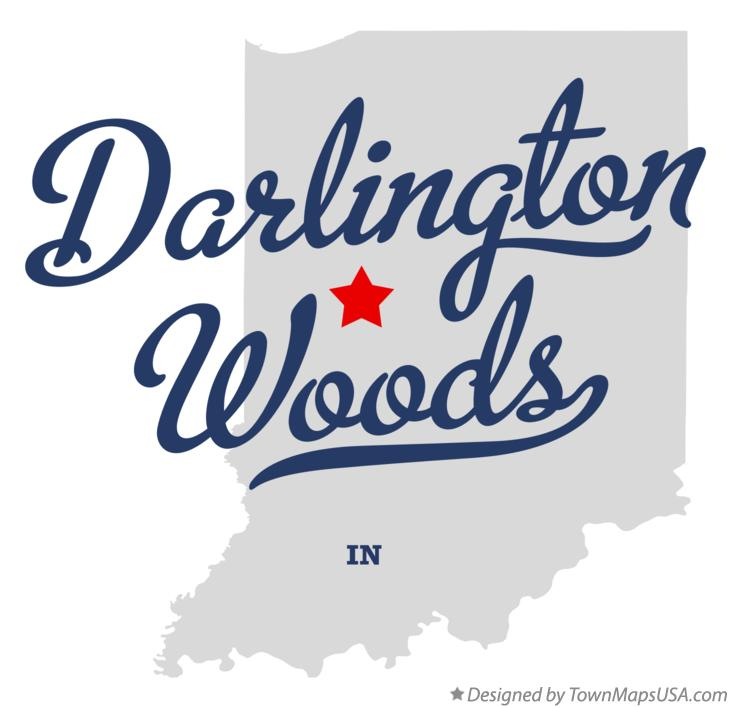 Map of Darlington Woods Indiana IN