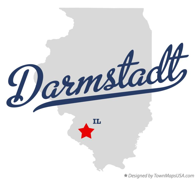 Map of Darmstadt Illinois IL