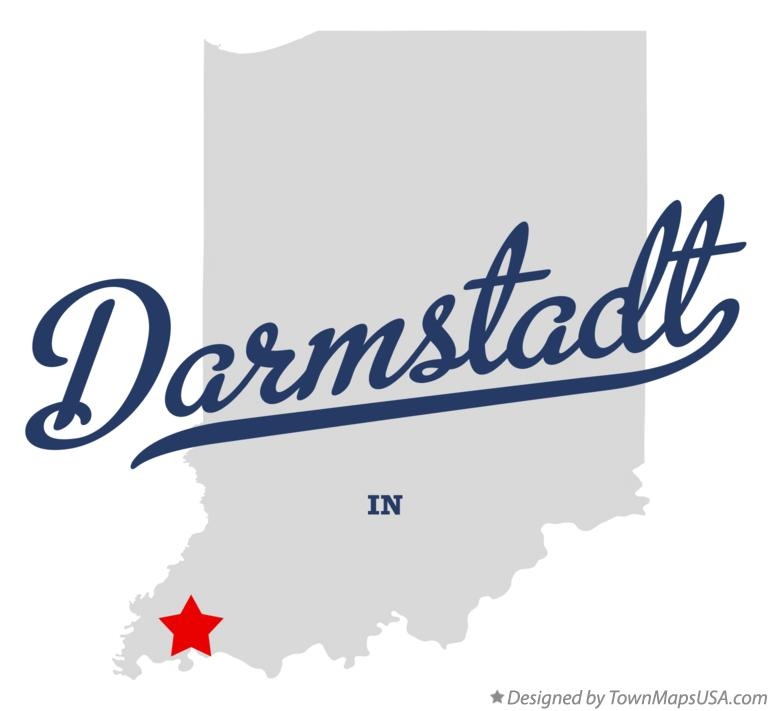 Map of Darmstadt Indiana IN