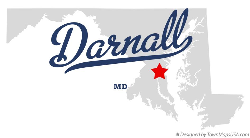 Map of Darnall Maryland MD