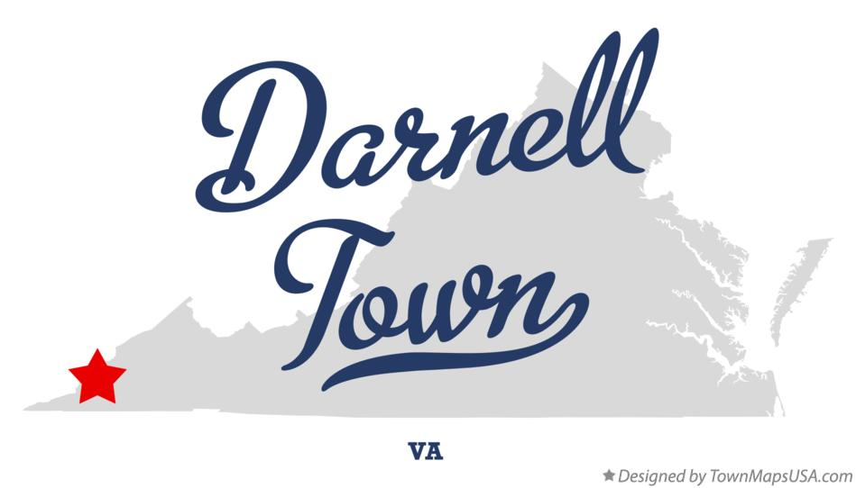 Map of Darnell Town Virginia VA