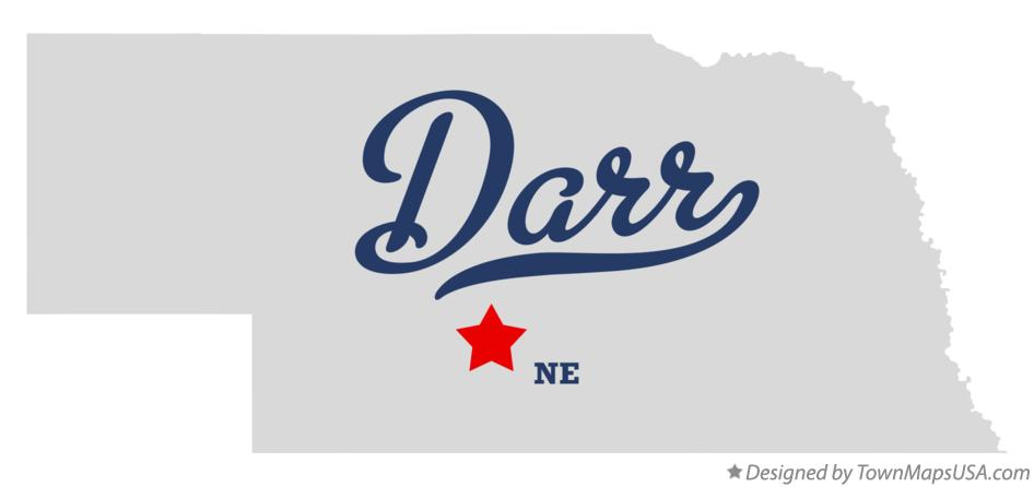 Map of Darr Nebraska NE