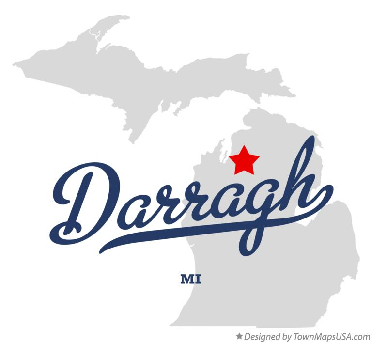 Map of Darragh Michigan MI