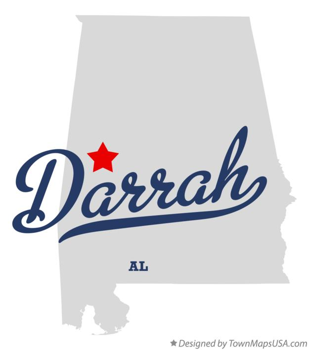 Map of Darrah Alabama AL