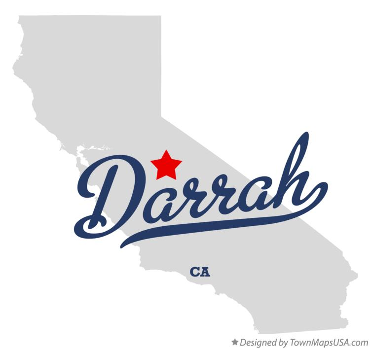 Map of Darrah California CA