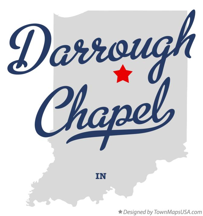 Map of Darrough Chapel Indiana IN