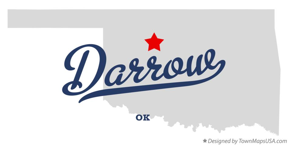 Map of Darrow Oklahoma OK