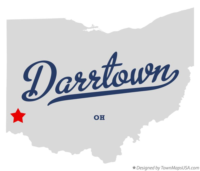 Map of Darrtown Ohio OH