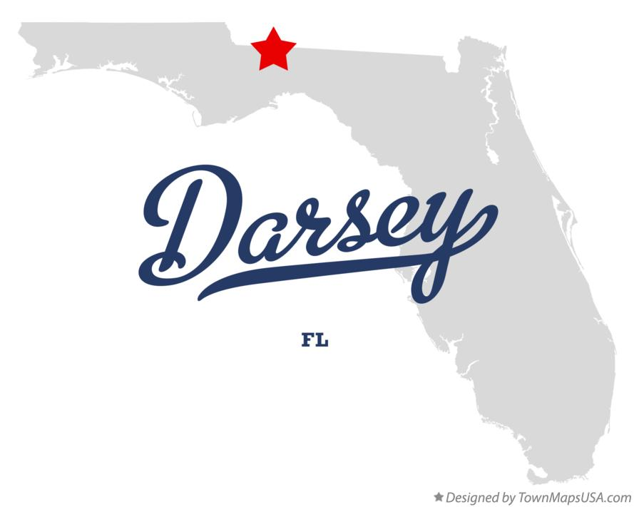 Map of Darsey Florida FL