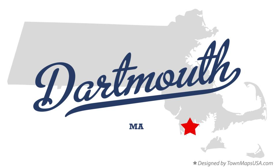 Map of Dartmouth Massachusetts MA