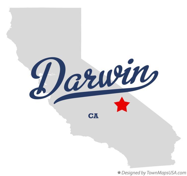 Darwin California Map.Map Of Darwin Ca California