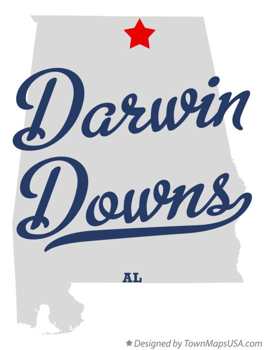Map of Darwin Downs Alabama AL