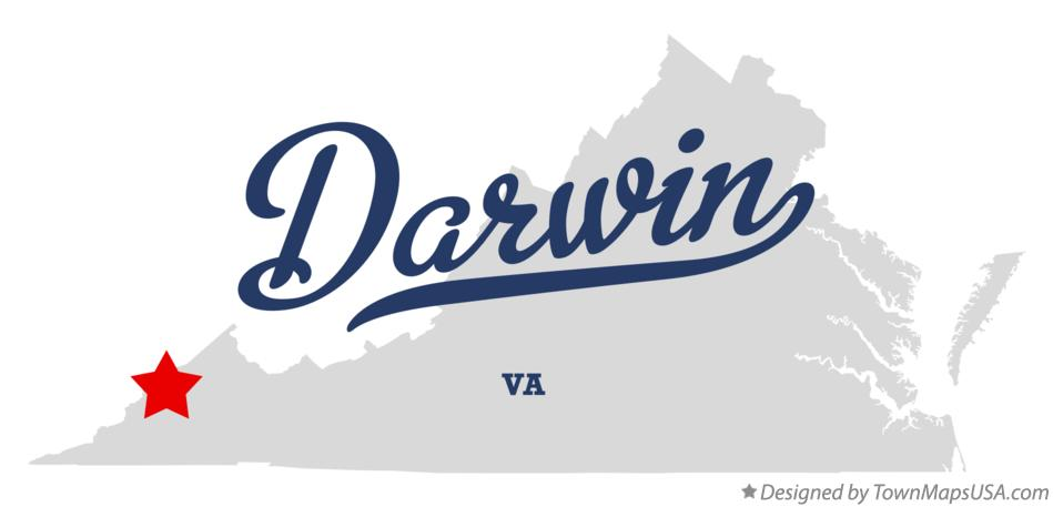 Map of Darwin Virginia VA