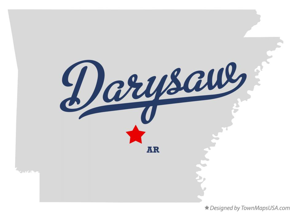 Map of Darysaw Arkansas AR