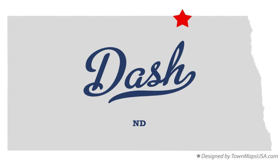 Map of Dash North Dakota ND