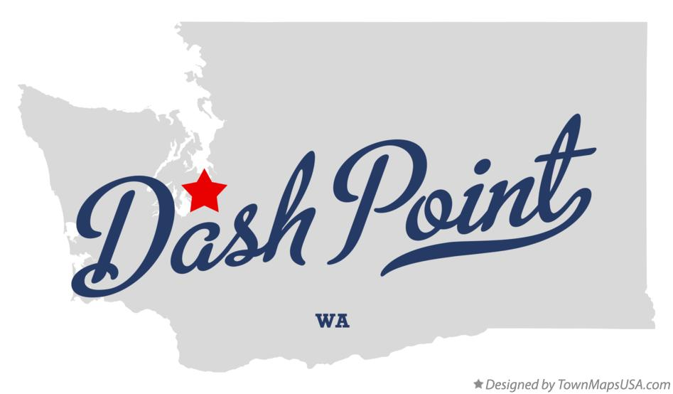 Map of Dash Point Washington WA