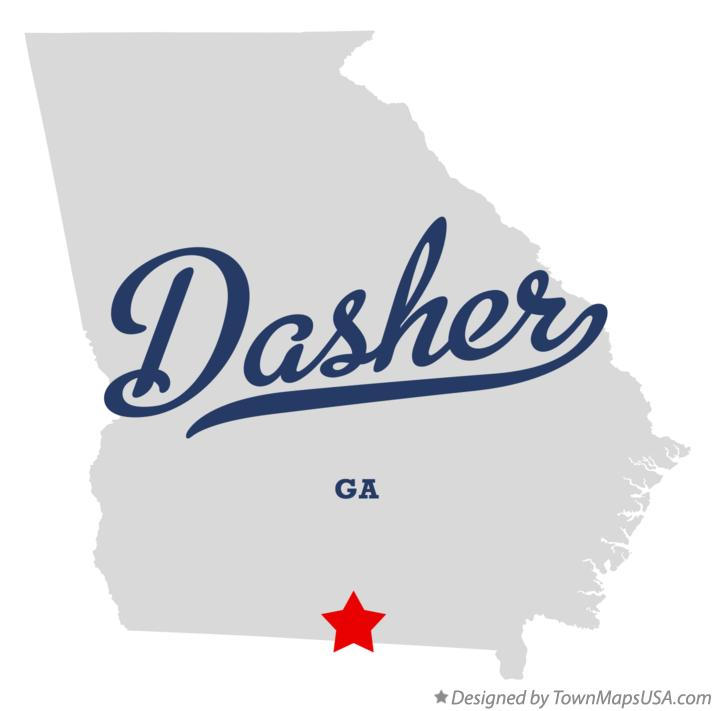 Map of Dasher Georgia GA