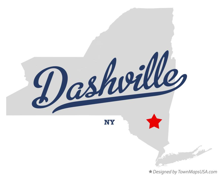 Map of Dashville New York NY