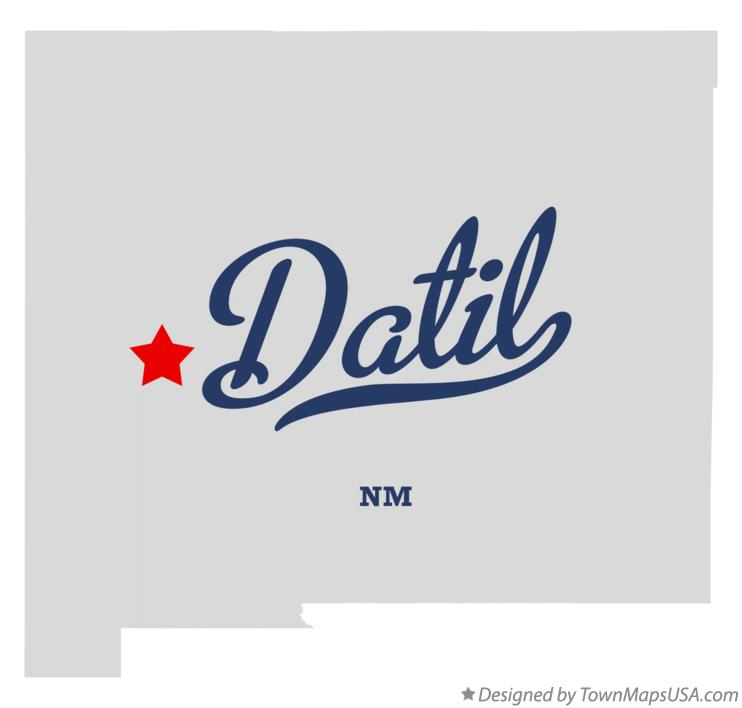 Map of Datil New Mexico NM