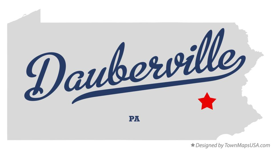 Map of Dauberville Pennsylvania PA