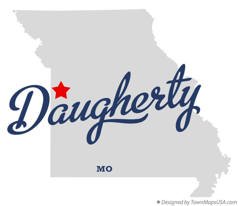 Map of Daugherty Missouri MO
